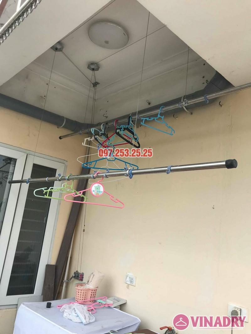 Sửa giàn phơi quần áo thông minh nhà chị Hồng, chung cư 15-17 Ngọc Khánh, Ba Đình, Hà Nội - 01