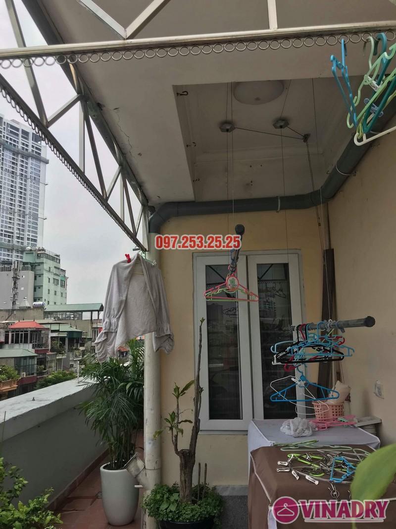Sửa giàn phơi quần áo thông minh nhà chị Hồng, chung cư 15-17 Ngọc Khánh, Ba Đình, Hà Nội - 04
