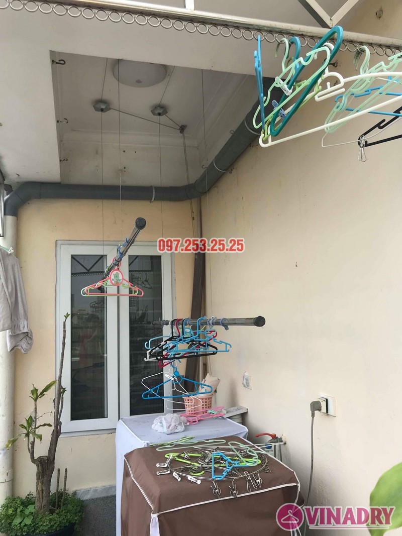 Sửa giàn phơi quần áo thông minh nhà chị Hồng, chung cư 15-17 Ngọc Khánh, Ba Đình, Hà Nội - 05