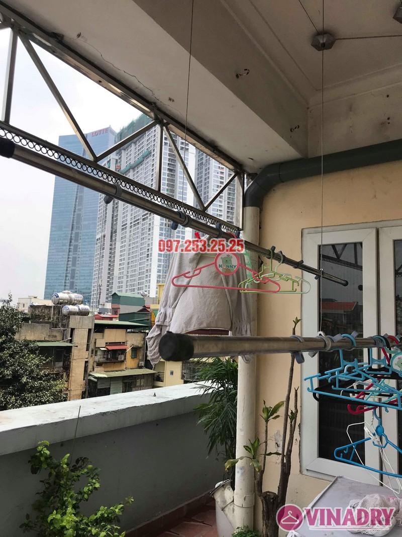 Sửa giàn phơi quần áo thông minh nhà chị Hồng, chung cư 15-17 Ngọc Khánh, Ba Đình, Hà Nội - 08