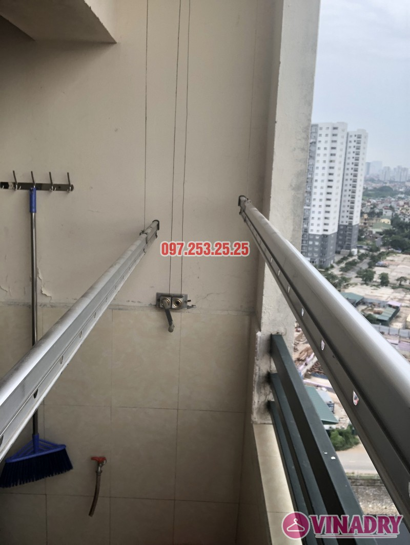 Sửa giàn phơi thông minh tại Hoàng Mai, nhà chị Thơm, tòa OCT1, Đơn Nguyên 1, KĐT Bắc Linh Đàm- 05