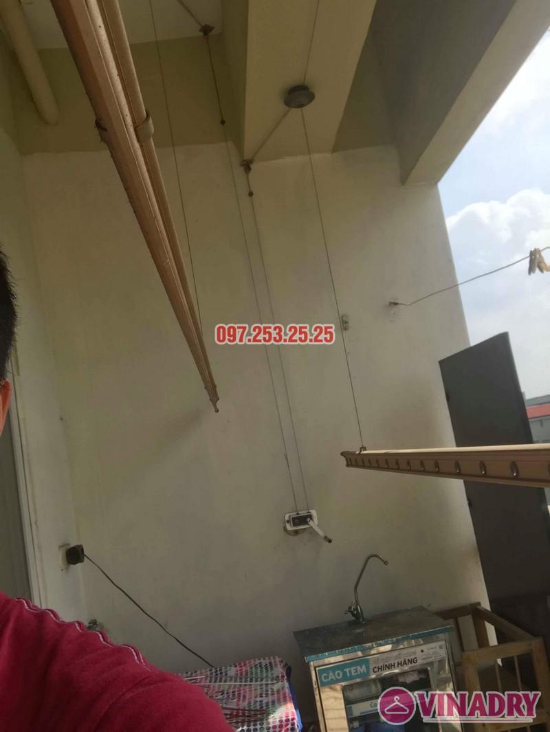 Sửa giàn phơi quần áo tại Hoàng Mai nhà chị Thơm, chung cư 282 Lĩnh Nam - 08
