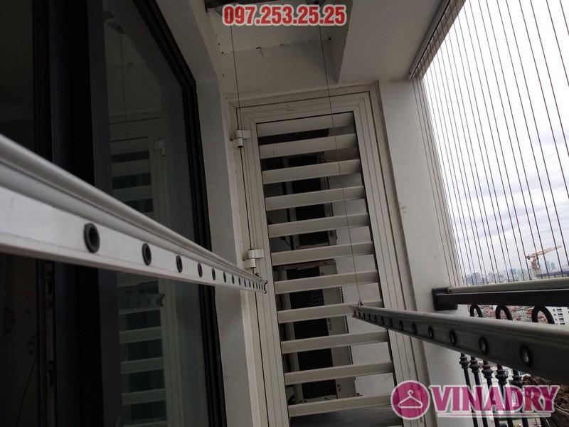 Sửa giàn phơi thông minh tại Times City nhà chị Hiền, căn 1804 tòa T1 - 05