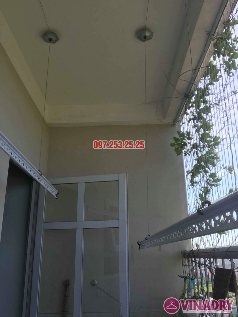 Sửa giàn phơi thông minh Long Biên nhà chị Hồng, tòa CT2A Thạch Bàn - 02