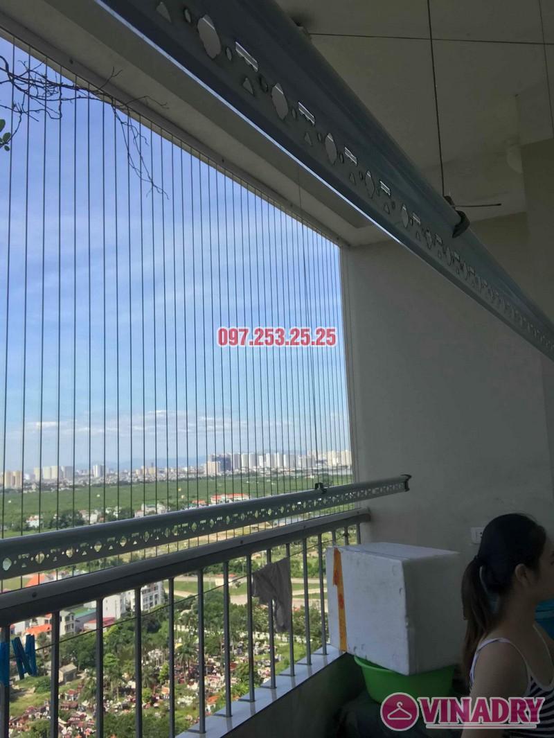 Sửa giàn phơi thông minh Long Biên nhà chị Hồng, tòa CT2A Thạch Bàn - 04