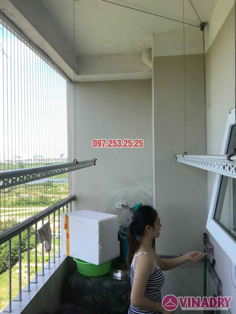 Sửa giàn phơi thông minh Long Biên nhà chị Hồng, tòa CT2A Thạch Bàn - 05