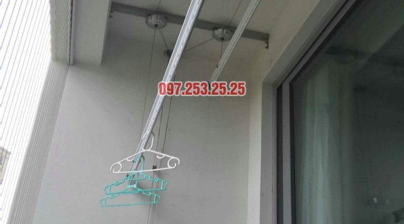 Sửa giàn phơi quần áo Times City nhà anh Cảnh, Tòa T9 - 07