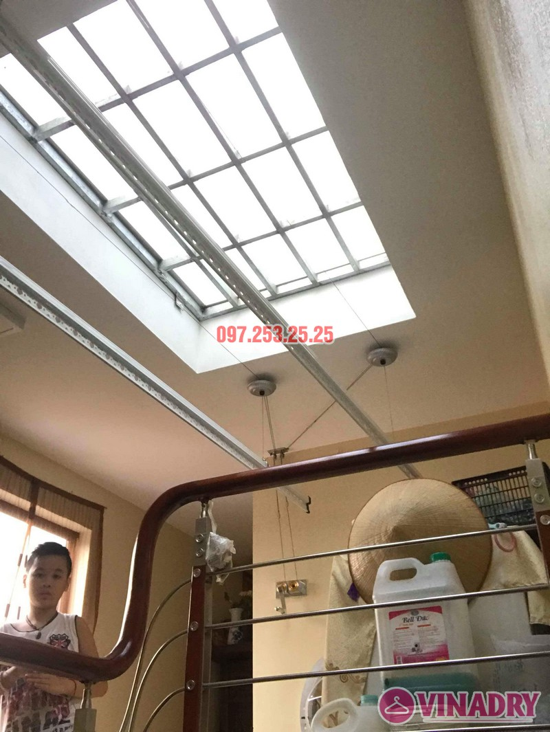 Lắp giàn phơi thông minh tại Tây Hồ nhà chị Thắm, ngõ 264 Âu Cơ - 01