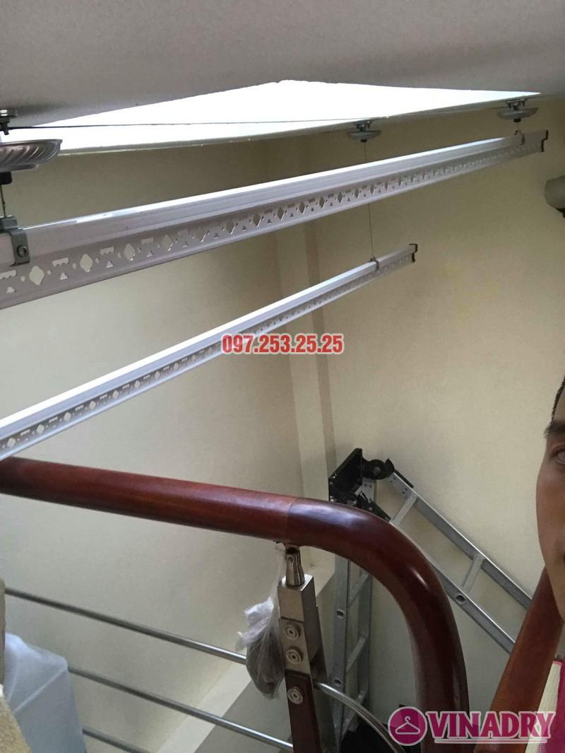 Lắp giàn phơi thông minh tại Tây Hồ nhà chị Thắm, ngõ 264 Âu Cơ - 04