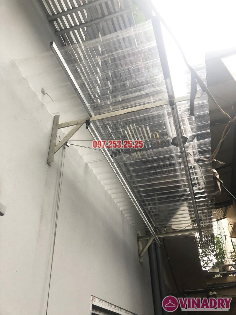 Lắp giàn phơi Hòa Phát nhà chị Hạnh, số 15, ngách 26 ngõ 219 Lĩnh Nam, Hoàng Mai - 04