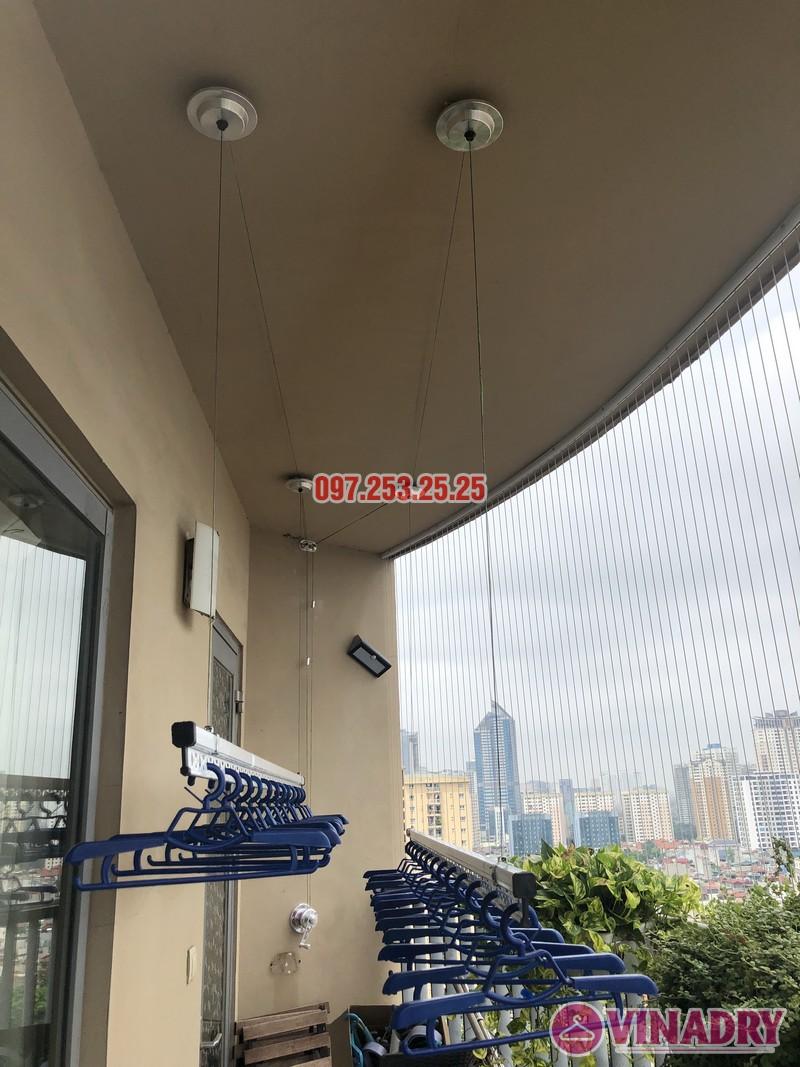 Lắp giàn phơi Hòa Phát Star nhà anh Minh, căn 1610, tòa chung cư Skycity 88 Láng Hạ-03