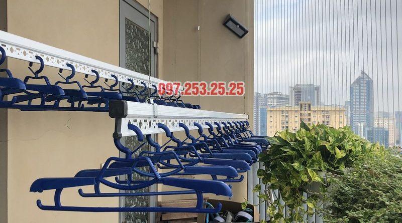 Lắp giàn phơi Hòa Phát Star nhà anh Minh, căn 1610, tòa chung cư Skycity 88 Láng Hạ-06