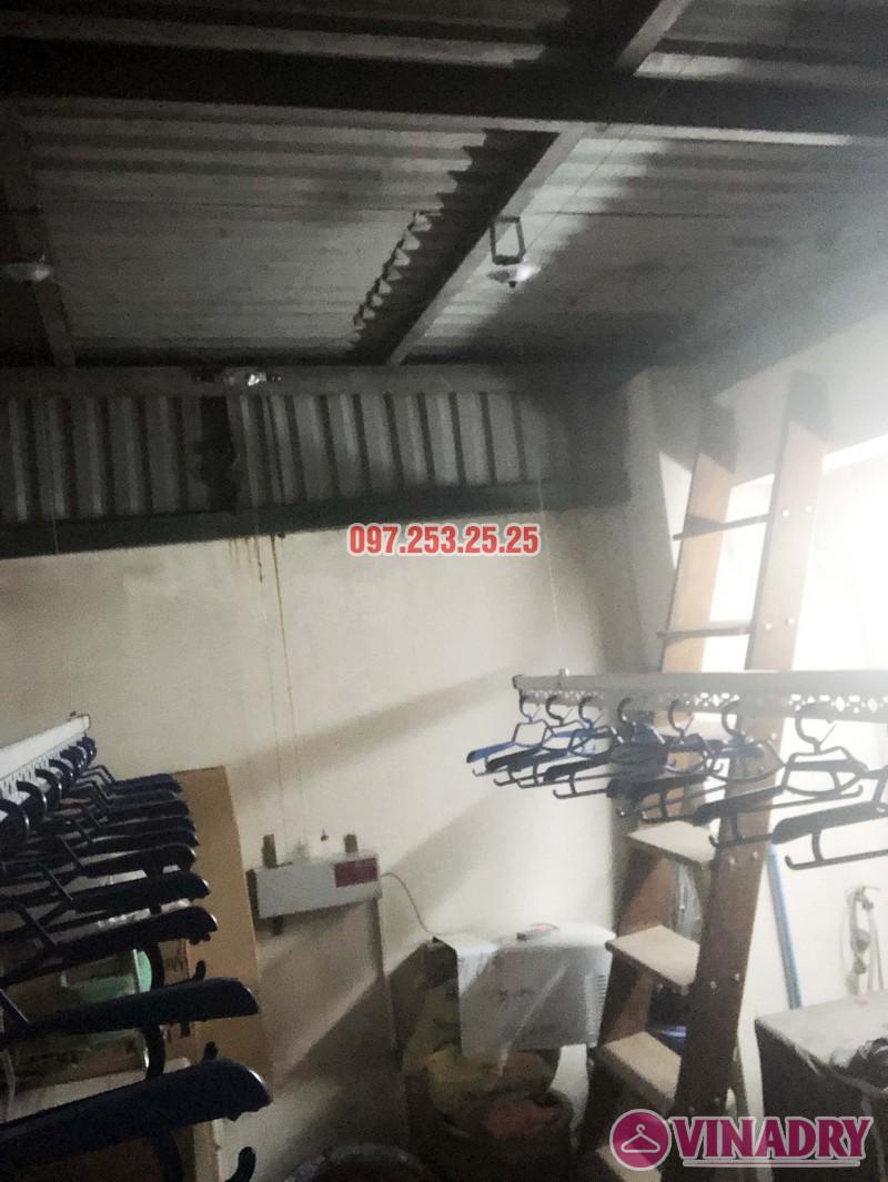Lắp giàn phơi điện tự động nhà anh Thành, ngõ 54 Tôn Thất Tùng, Đống Đa, Hà Nội - 02