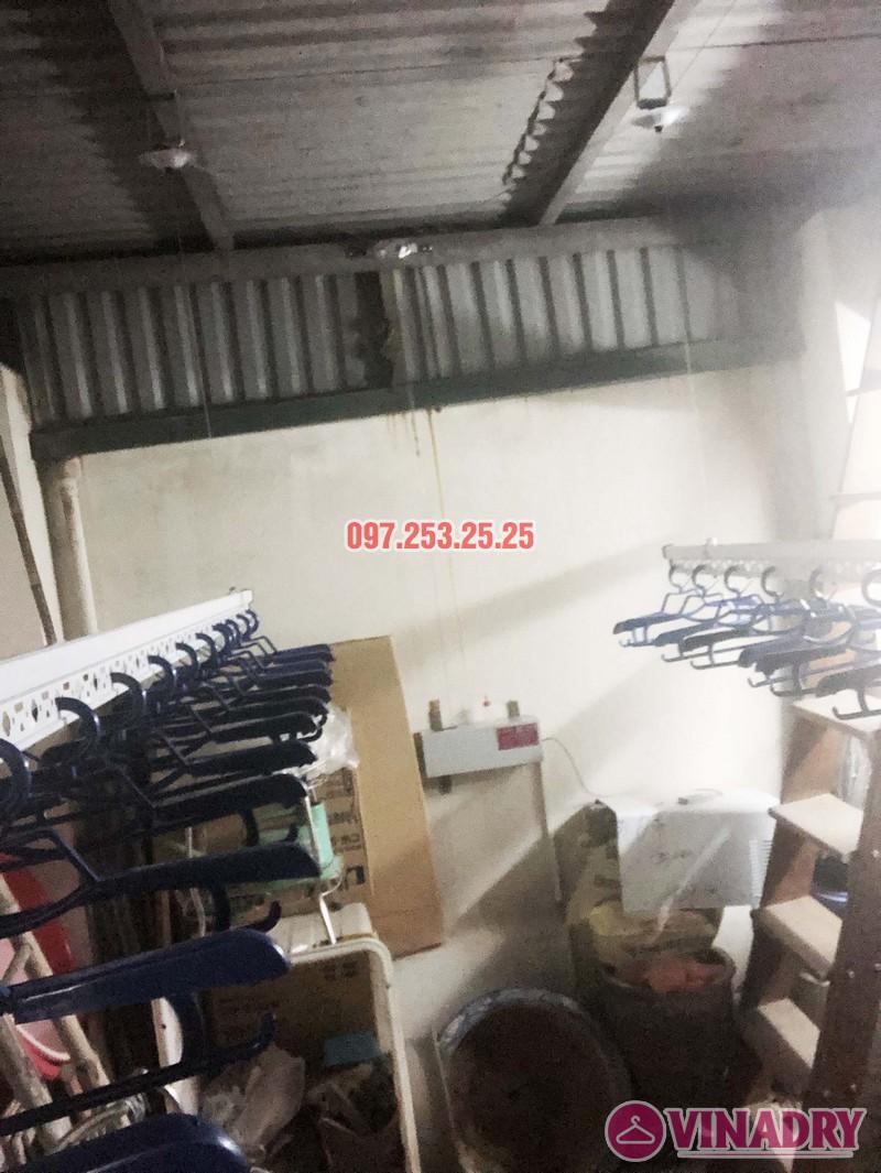 Lắp giàn phơi điện tự động nhà anh Thành, ngõ 54 Tôn Thất Tùng, Đống Đa, Hà Nội - 03