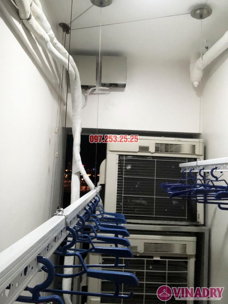 Lắp giàn phơi thông minh Hòa Phát nhà anh Tài, căn 304, CT2 chung cư 789 Xuân Đỉnh - 04