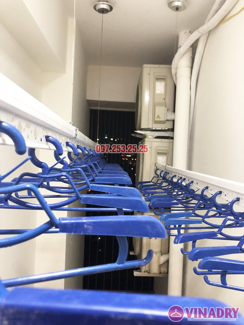 Lắp giàn phơi thông minh nhà anh Tuấn, căn 2106 tòa A, chung cư Đồng Phát Park view - 01