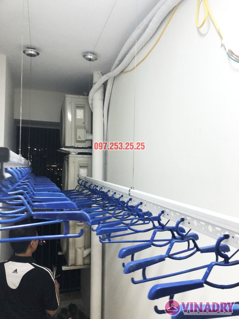 Lắp giàn phơi thông minh nhà anh Tuấn, căn 2106 tòa A, chung cư Đồng Phát Park view - 05
