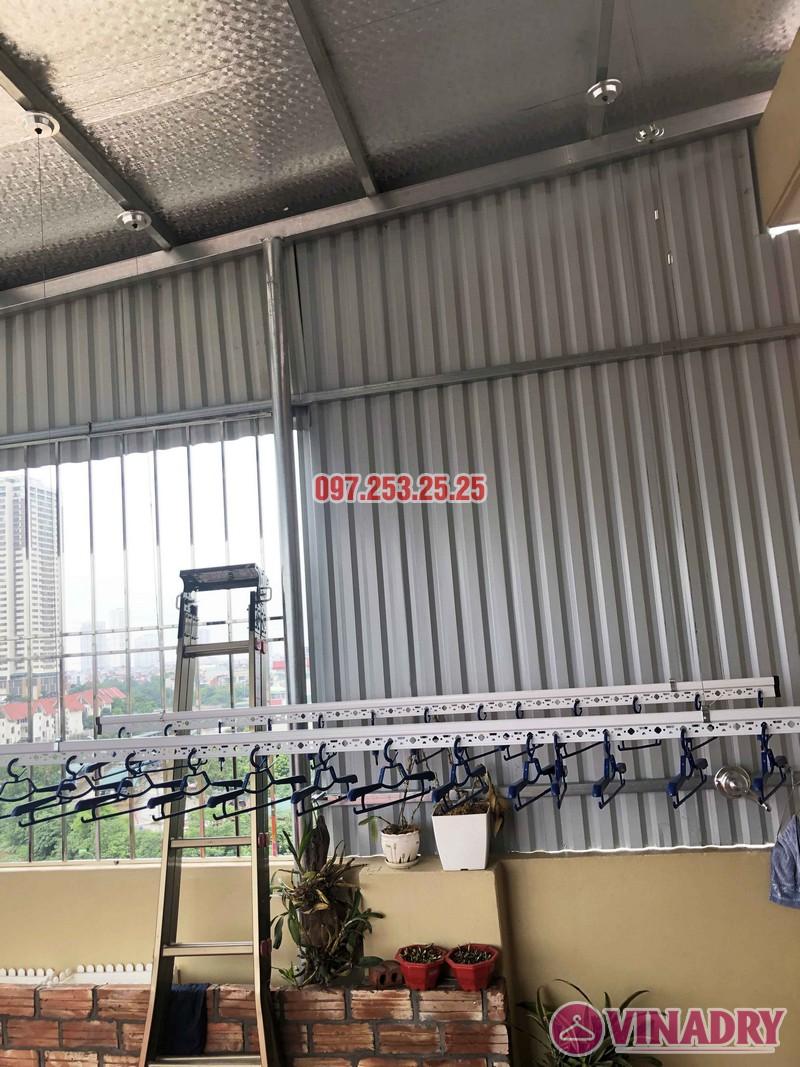 Lắp giàn phơi tại Hà Đông nhà chị Thắm, Liền kề 26, KĐT An Hưng - 04