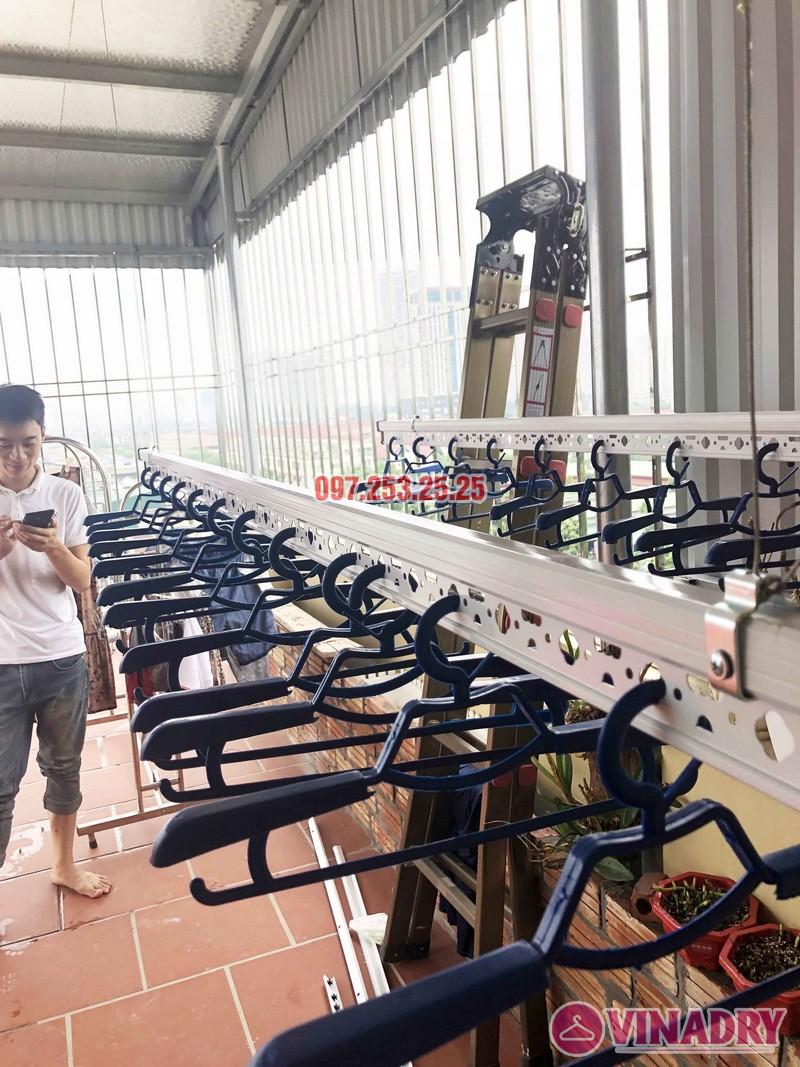 Lắp giàn phơi tại Hà Đông nhà chị Thắm, Liền kề 26, KĐT An Hưng - 05