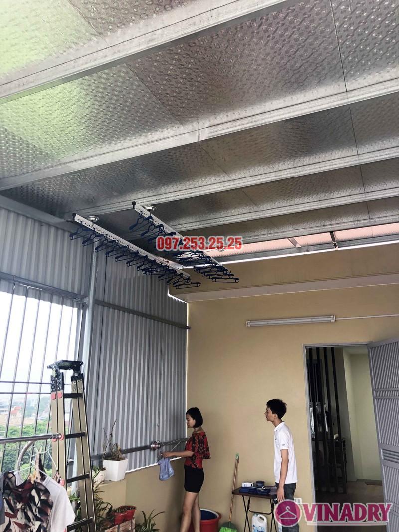 Lắp giàn phơi tại Hà Đông nhà chị Thắm, Liền kề 26, KĐT An Hưng - 07