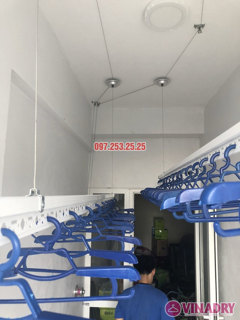 Lắp giàn phơi thông minh nhà chị Huế, căn 511 chung cư 622 Minh Khai, Hà Nội - 01