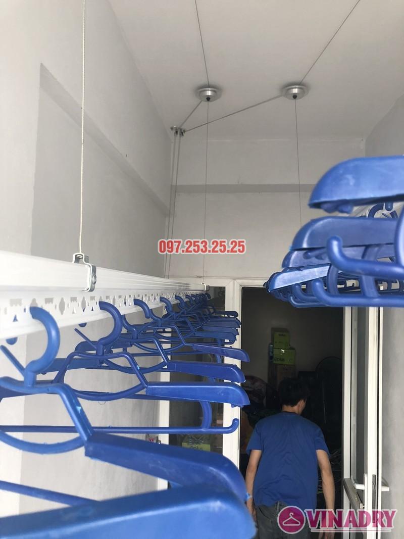 Lắp giàn phơi thông minh nhà chị Huế, căn 511 chung cư 622 Minh Khai, Hà Nội - 02