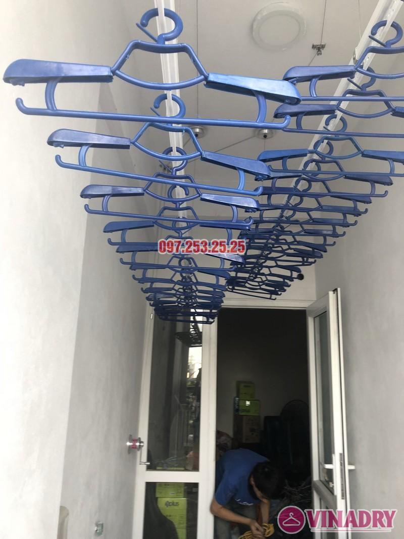 Lắp giàn phơi thông minh nhà chị Huế, căn 511 chung cư 622 Minh Khai, Hà Nội - 06