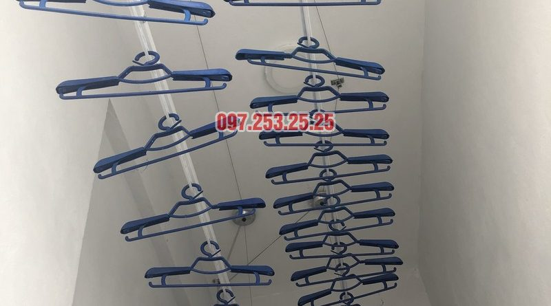 Lắp giàn phơi thông minh nhà chị Huế, căn 511 chung cư 622 Minh Khai, Hà Nội - 07