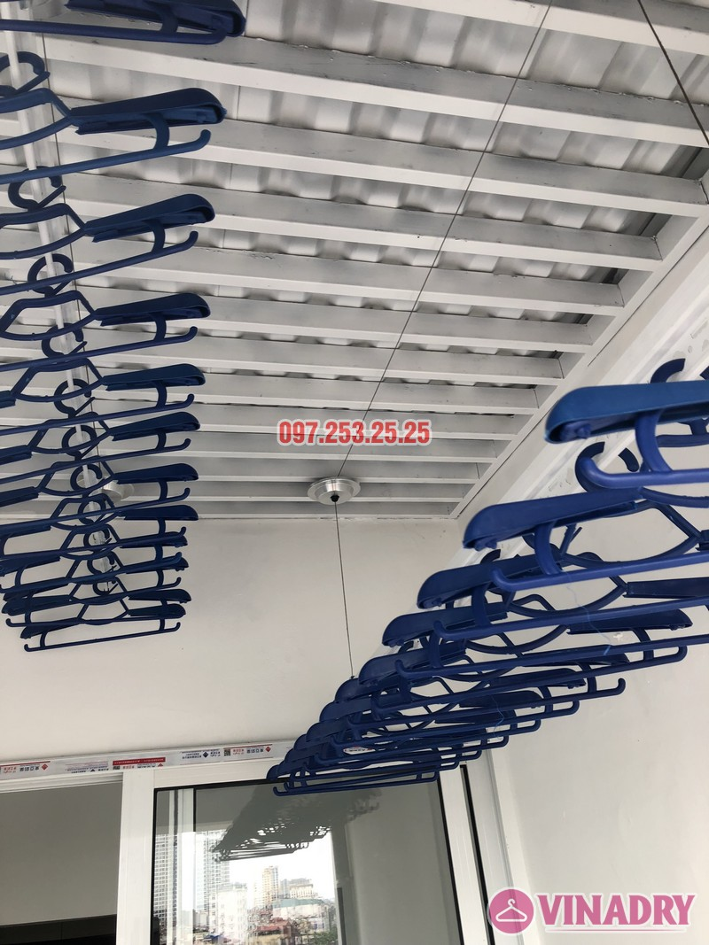Lắp đặt giàn phơi thông minh Đống Đa nhà anh Thiện, căn 0605 chung cư 71 Nguyễn Chí Thanh - 01