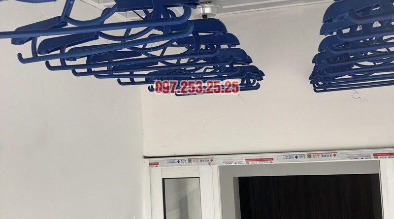 Lắp đặt giàn phơi thông minh Đống Đa nhà anh Thiện, căn 0605 chung cư 71 Nguyễn Chí Thanh - 05