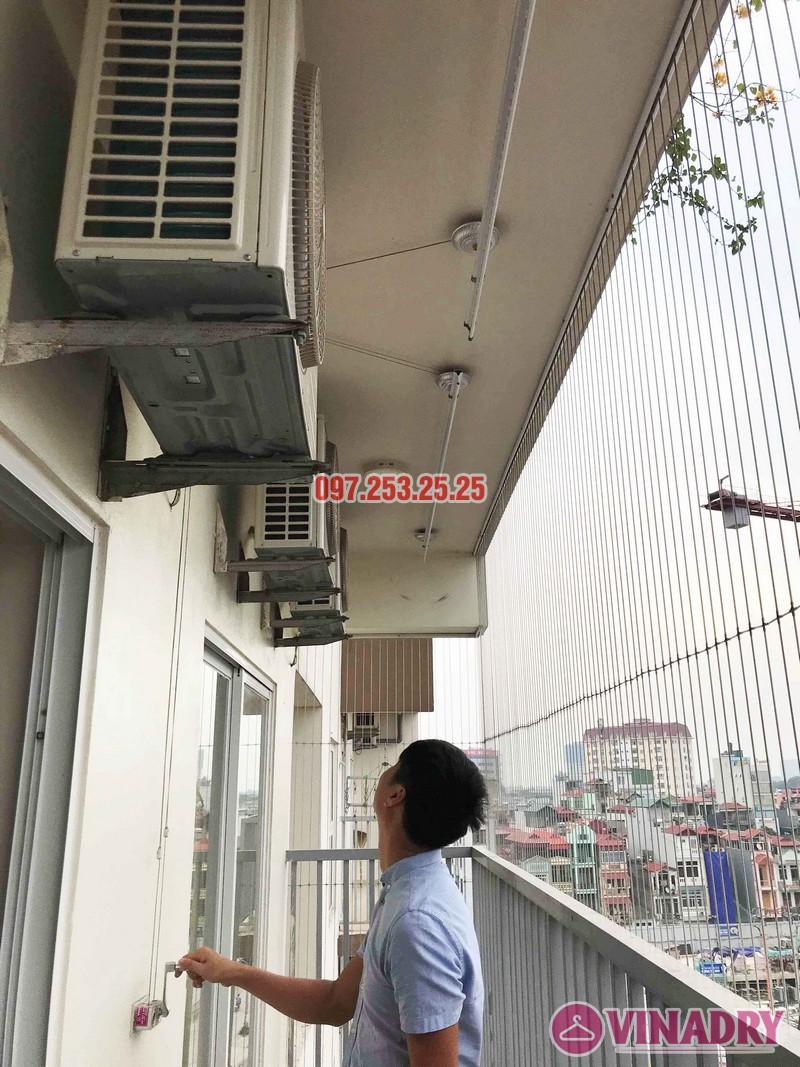 Lắp giàn phơi Long Biên nhà chị Hòa, chung cư 390 Nguyễn Văn Cừ - 05