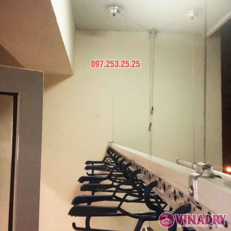 Lắp giàn phơi Hòa Phát nhà anh Chính, căn 403, tòa HH2A, Đơn Nguyên A, ngõ 562 Nguyễn Văn Cừ - 05