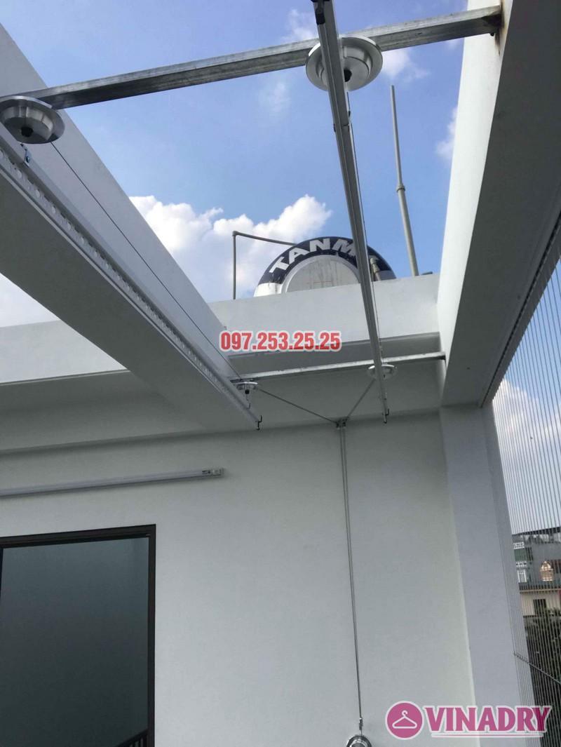 Lắp giàn phơi quần áo Hòa Phát 701 nhà anh Tiến, ngõ 42 Thịnh Liệt, Hoàng Mai, Hà Nội - 02