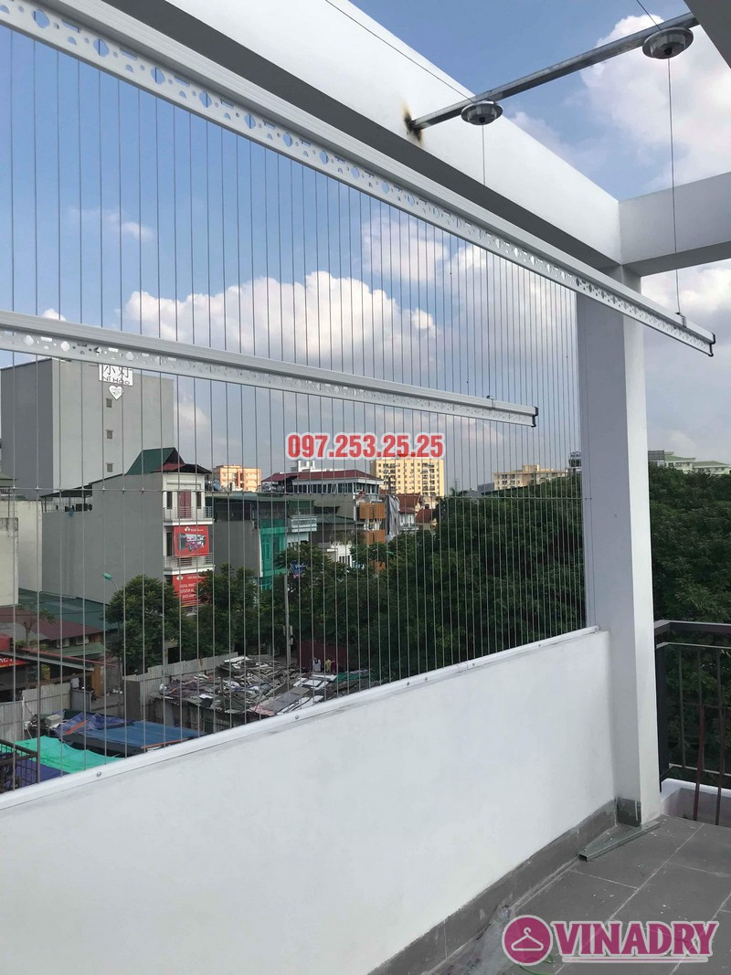 Lắp giàn phơi quần áo Hòa Phát 701 nhà anh Tiến, ngõ 42 Thịnh Liệt, Hoàng Mai, Hà Nội - 08