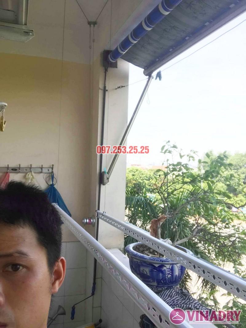 Lắp giàn phơi Hòa Phát KS950 nhà chị Loan, chung cư K2 Việt Hưng, Long Biên, Hà Nội - 02