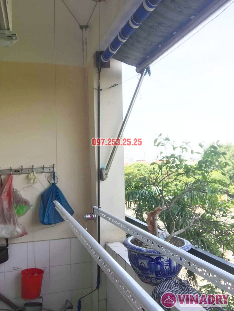 Lắp giàn phơi Hòa Phát KS950 nhà chị Loan, chung cư K2 Việt Hưng, Long Biên, Hà Nội - 03