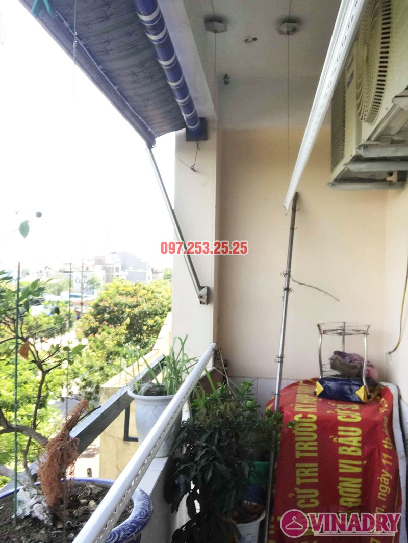 Lắp giàn phơi Hòa Phát KS950 nhà chị Loan, chung cư K2 Việt Hưng, Long Biên, Hà Nội - 04