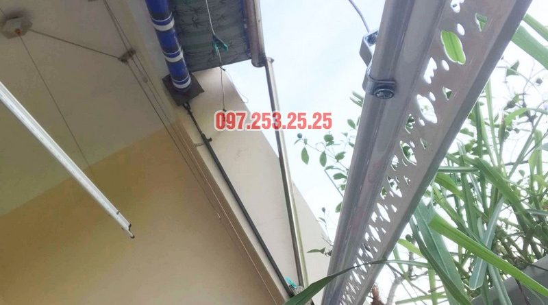 Lắp giàn phơi Hòa Phát KS950 nhà chị Loan, chung cư K2 Việt Hưng, Long Biên, Hà Nội - 06
