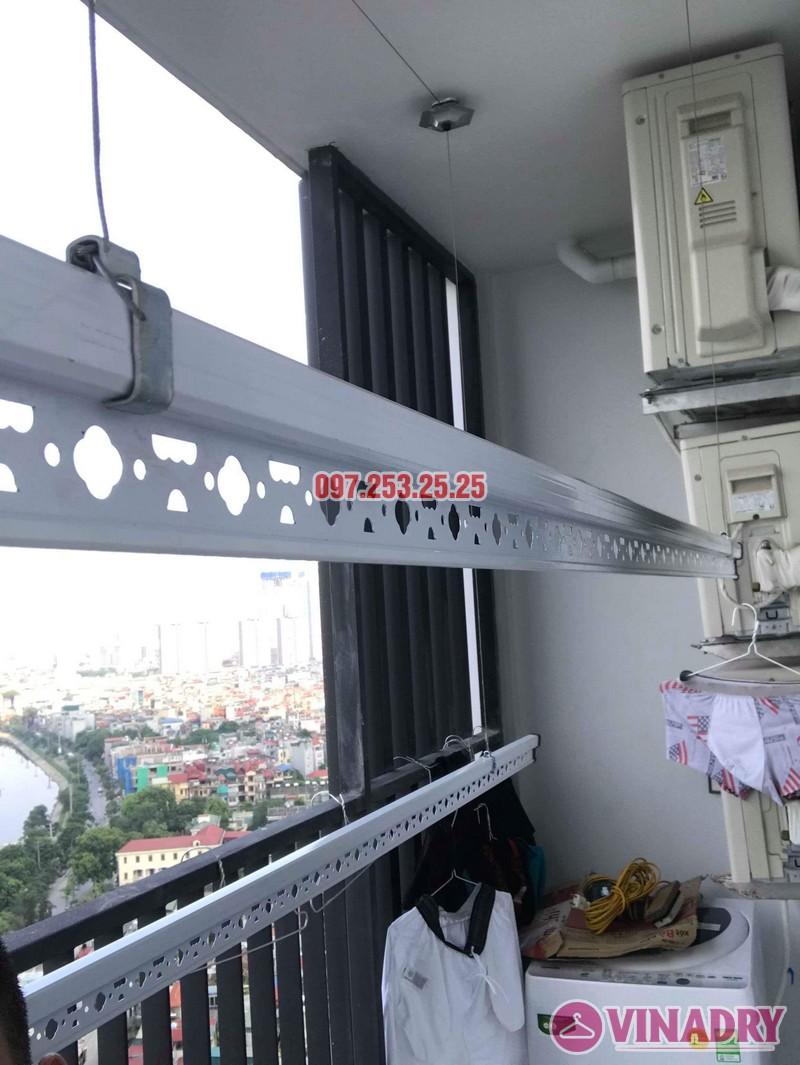 Lắp giàn phơi Hòa Phát KS950 nhà anh Tiến, tòa, G5 chung cư Five Star Kim Giang - 02