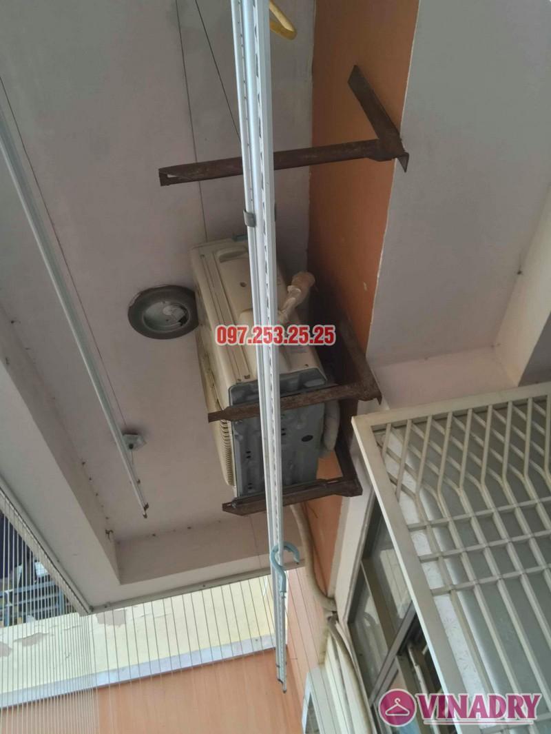 Sửa giàn phơi quần áo nhà anh Hòa, chung cư 101 Láng Hạ, Đống Đa, Hà Nội - 05