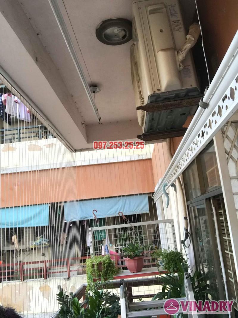 Sửa giàn phơi quần áo nhà anh Hòa, chung cư 101 Láng Hạ, Đống Đa, Hà Nội - 08