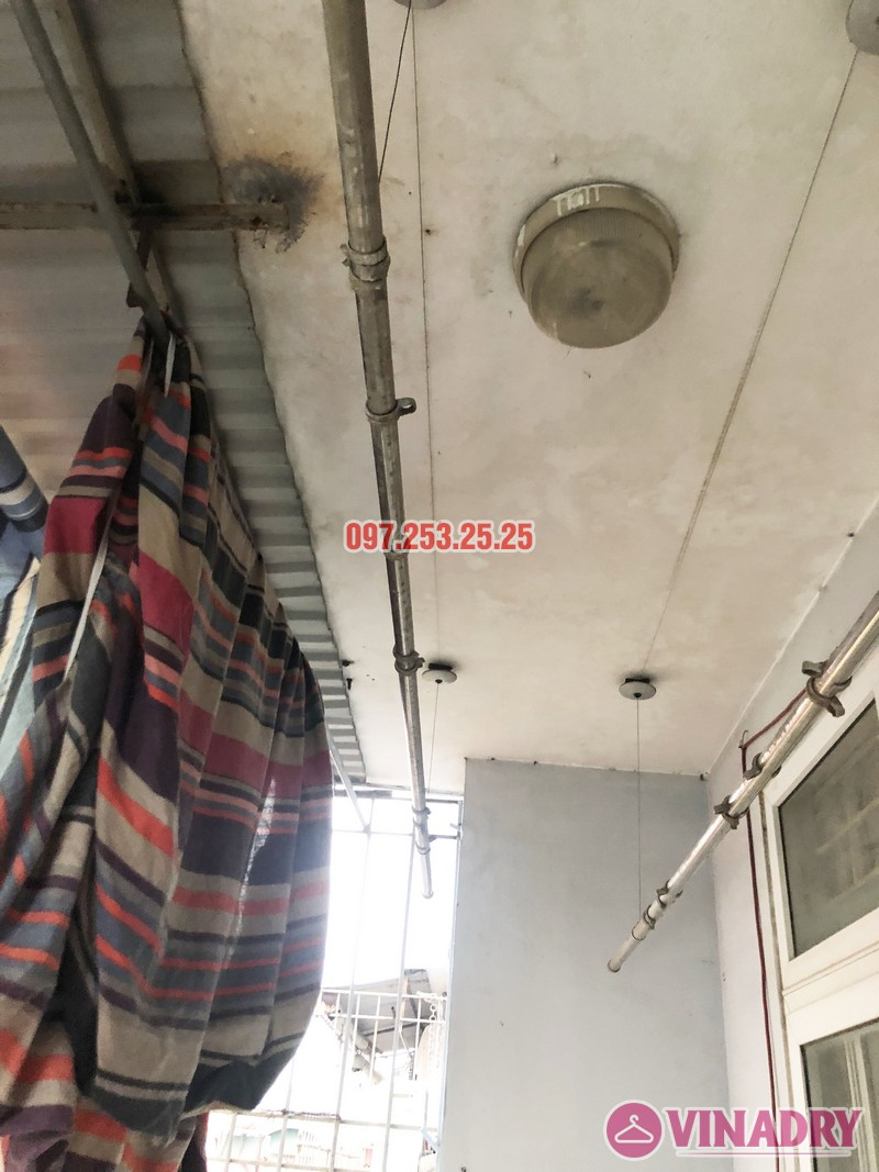 Sửa giàn phơi quần áo nhà anh Hải, căn 1508 tòa OCT2 KĐT Xuân Phương, Nam Từ Liêm, Hà Nội - 01