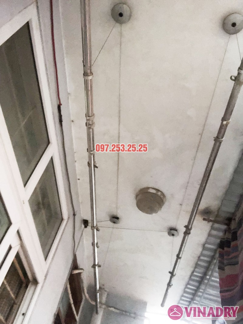 Sửa giàn phơi quần áo nhà anh Hải, căn 1508 tòa OCT2 KĐT Xuân Phương, Nam Từ Liêm, Hà Nội - 02