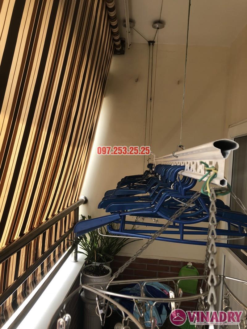 Thay củ quay, bộ tời giàn phơi nhà chị Minh, căn 910, tòa 18T2 Lê Văn Lương - 01