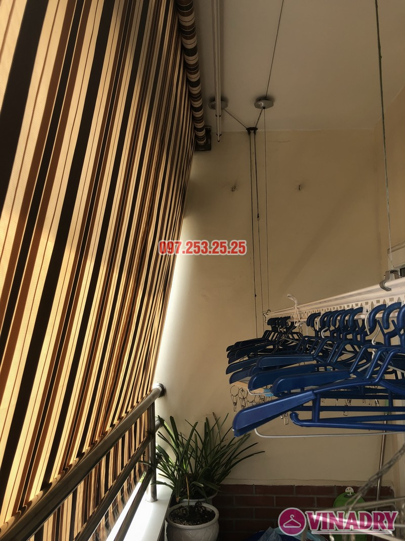 Thay củ quay, bộ tời giàn phơi nhà chị Minh, căn 910, tòa 18T2 Lê Văn Lương - 04