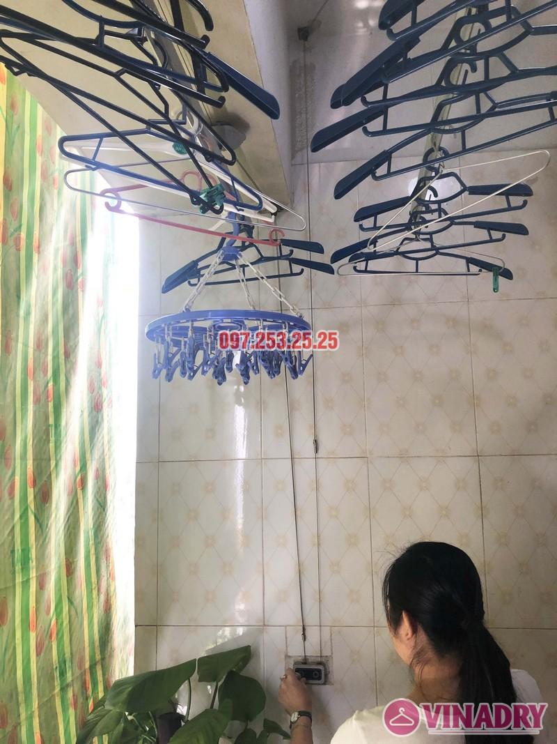 Sửa giàn phơi tại Thanh Trì, Hà Nội nhà chị Tám, căn 2828 chung cư CT8B Đại Thanh - 02