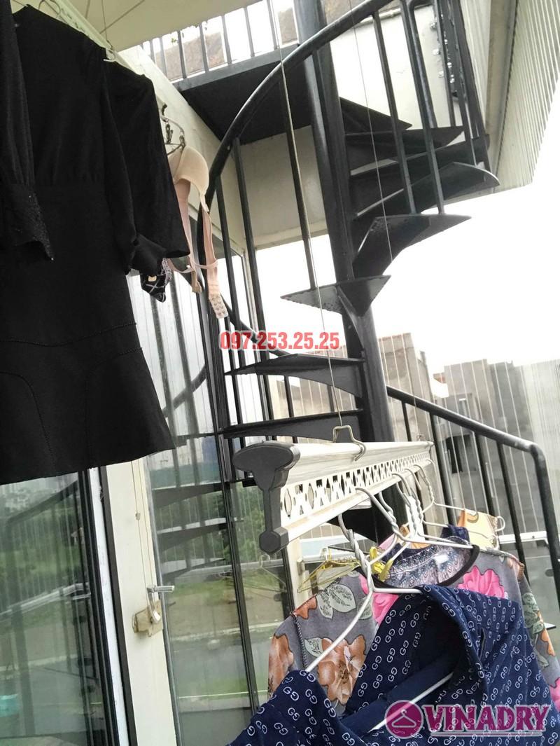 Sửa giàn phơi quần áo tại Long Biên nhà chị Ngà, ngõ 75 Tư Đình - 02