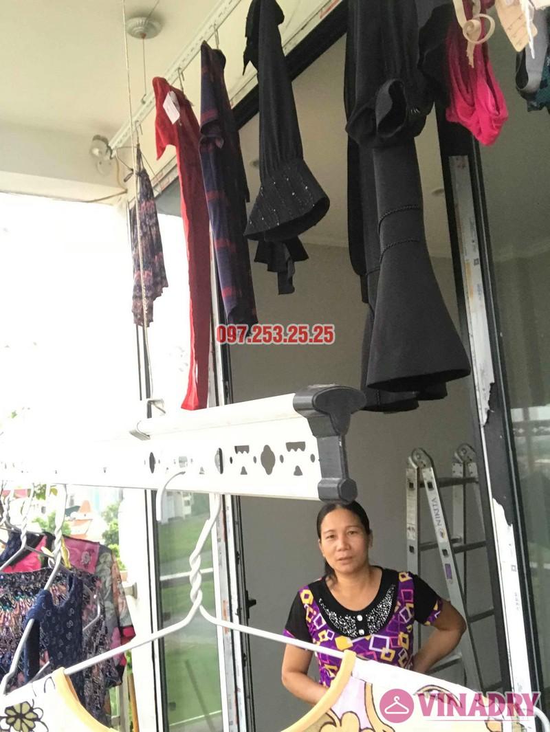 Sửa giàn phơi quần áo tại Long Biên nhà chị Ngà, ngõ 75 Tư Đình - 01