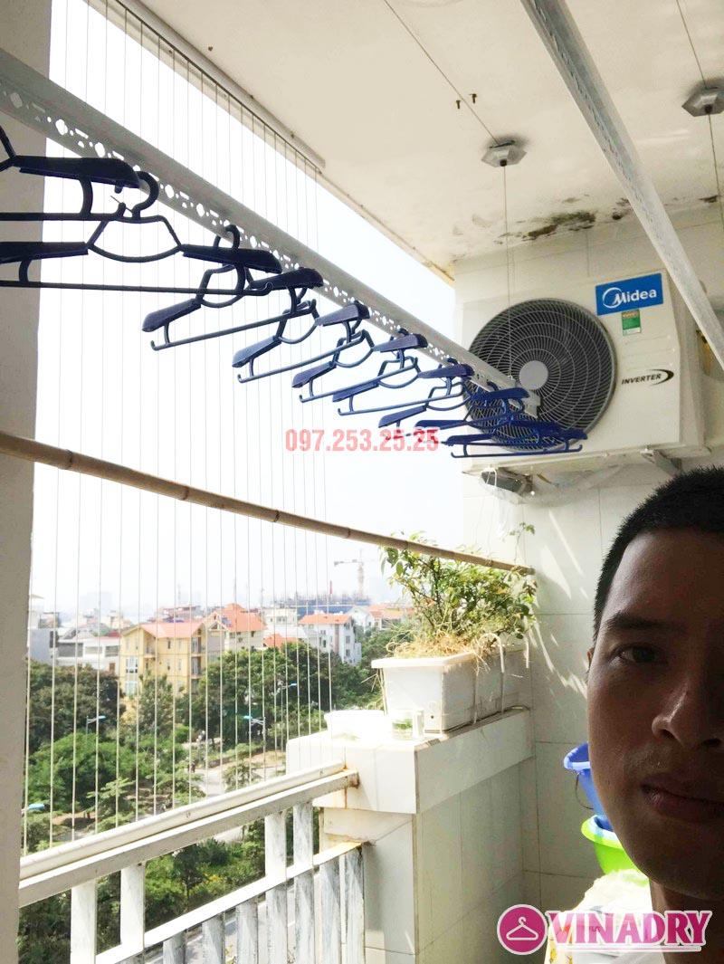 Lắp giàn phơi quần áo thông minh nhà anh Đại, CT13 Ciputra, Tây Hồ, Hà Nội - 03