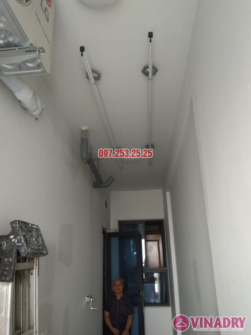 Lắp đặt giàn phơi thông minh tại Gold Mark City nhà chú Hà, tòa R3 - 01